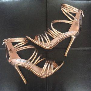 Gold Steve Madden Strappy Stilettos